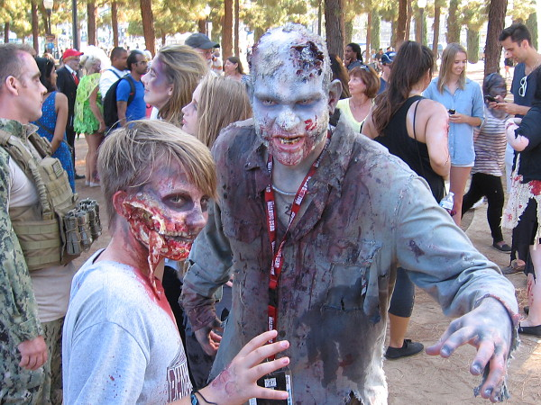 Saturday evening, an army of zombies was spotted gathering in San Diego's Children's Park, getting ready to attack innocent humans attending 2016 Comic-Con.