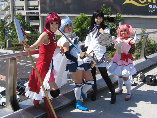 Madoka Magica cosplay at 2016 San Diego Comic-Con.