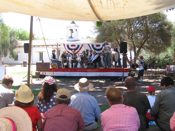 During the Independence Day celebration in Old Town San Diego, there were all sorts of fun and educational activities. Musical entertainment could be heard at the main stage.