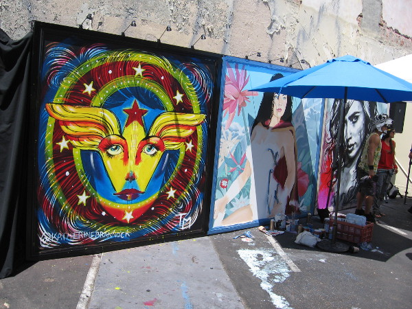 An amazing Wonder Woman mural is being painted for 2016 San Diego Comic-Con, at (Paradise) Island Avenue and Sixth Avenue