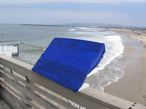 Later in the day, a new plaque would be unveiled near the stairs down to the beach.
