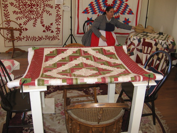 These beautiful quilts are on public display at Threads of the Past, in Old Town San Diego State Historic Park.