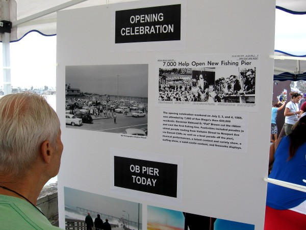 Photos of the opening celebration weekend in 1966. Governor Edmund Brown cut the ribbon and cast the first fishing line . . . but gave up after 5 minutes! Festivities included parades, a surfing and variety show, and a sandcastle contest.