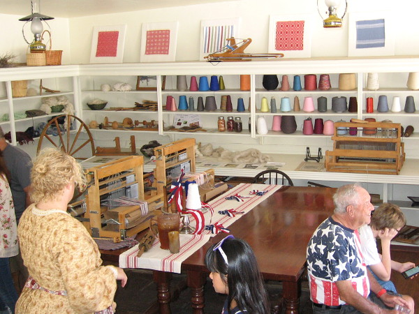 Threads of the Past contains several small looms and a variety of educational displays.