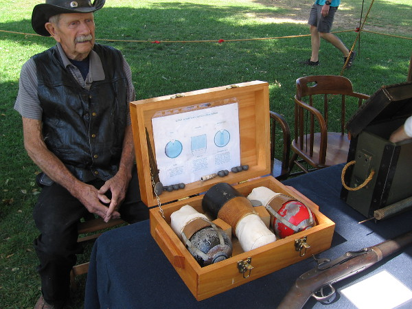 The San Pasqual Battlefield Volunteer Association had an interesting display, including ammunition that was used in old cannons.