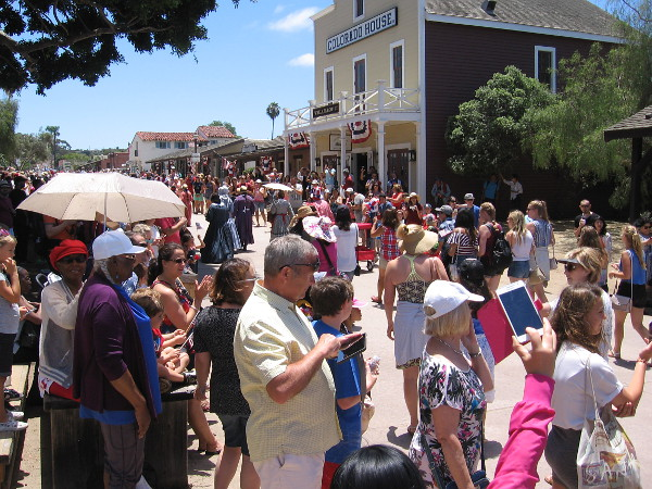 This photo shows the good crowd that converged on Old Town San Diego for the Fourth of July!