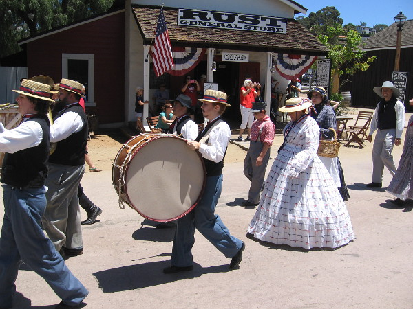 A scene from the American Independence Day parade in Old Town San Diego State Historic Park.