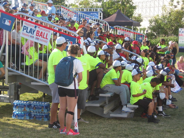 The teams had assembled on Thursday in the late afternoon, and the bleachers were full of enthusiastic players and fans!