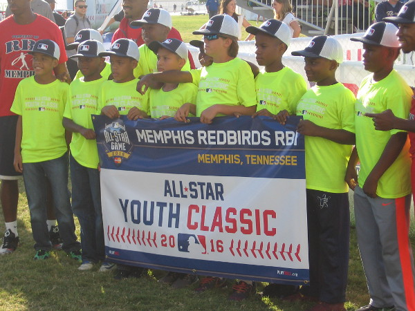 These guys are the Memphis Redbirds. Teams have come in from as far away as Indianapolis, Jacksonville, Rhode Island and Queens, NY. Several teams are from San Diego and two teams drove up from Tijuana, Mexico!
