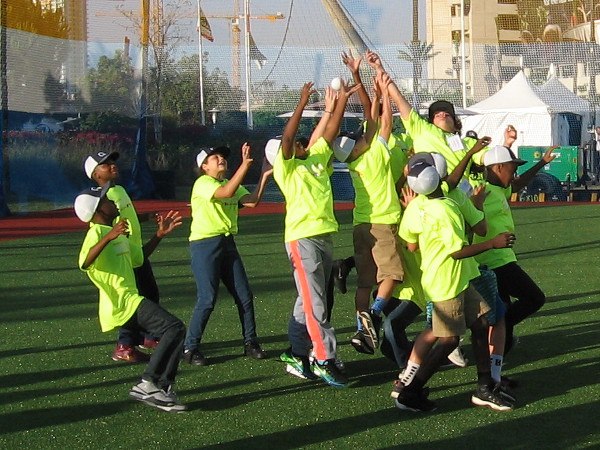 Another fly ball! Having fun outdoors and being physically active is what this event is really all about.