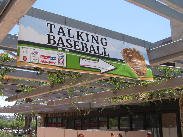 Talking Baseball was a special event programmed in conjunction with the Major League Baseball All-Star Game in San Diego this year. It was held in the downtown library.
