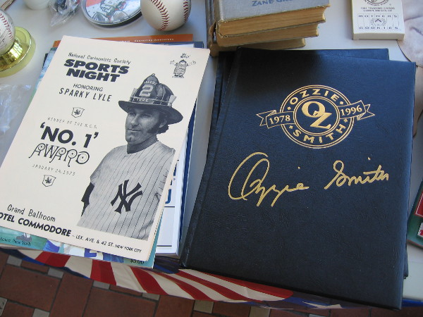 Collectibles remember New York Yankee Sparky Lyle and San Diego's own Wizard of Oz shortstop, Ozzie Smith!