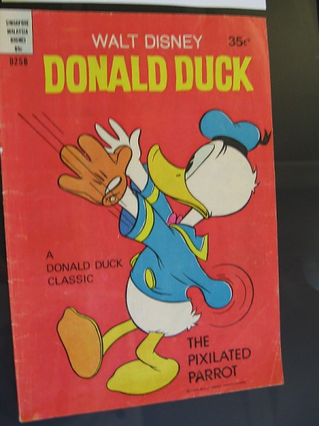 Walt Disney's Donald Duck, 1978. The baseball flew down his sleeve!