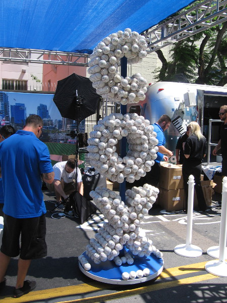 Kudos to COX for creating this unique sculpture made of baseballs. It was cool enough that I put a photo of it on this silly blog!