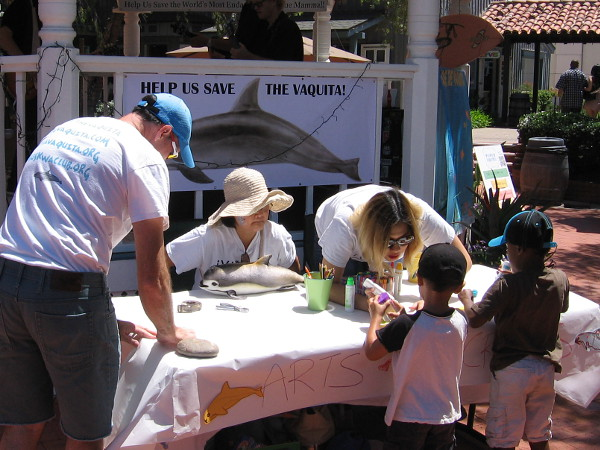 Kids make art and learn about the critically endangered Vaquita, a marine mammal that clings to a tenuous existence not far from San Diego.