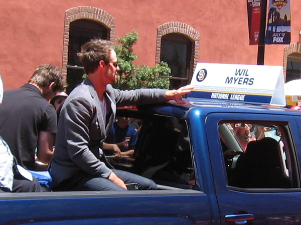 And here is local baseball hero, Wil Myers of the San Diego Padres!
