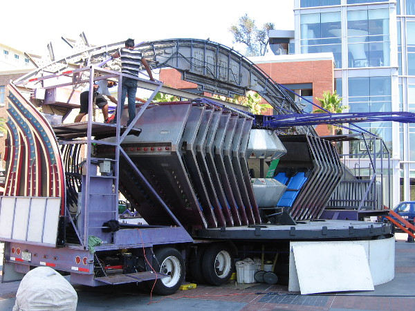 It appears to me Comic-Con fans will be able to take a wild spin in a time machine in this Timeless amusement ride.