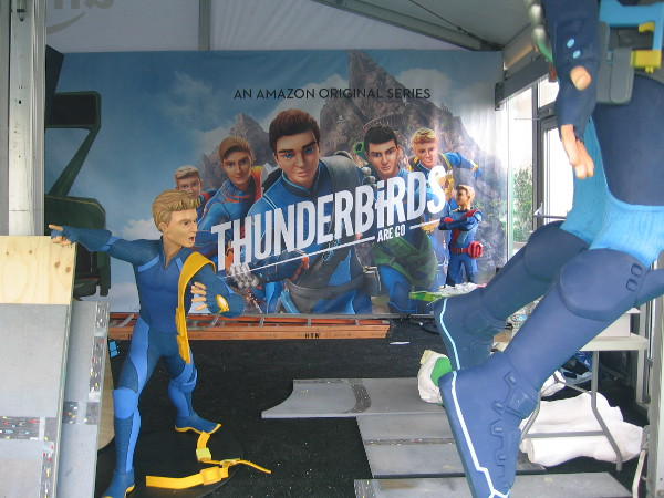 A photo of the unfinished interior of Thunderbirds Are Go at Comic-Con.