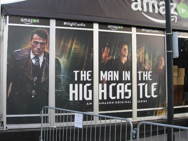 Amazon's other pavilion promotes their original series The Man in the High Castle.