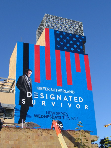 And another wrap on Petco Park concerns Designated Survivor, a new series on ABC this fall starring Kiefer Sutherland.