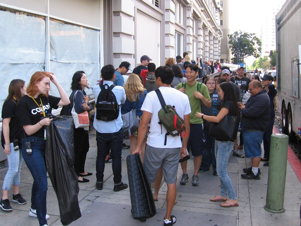 Hundreds of people were in line early Wednesday morning to watch Conan perform at the Spreckels Theater.