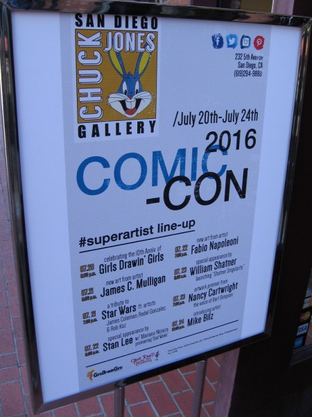 The Chuck Jones Gallery in the Gaslamp scored some big guests! Stan Lee and William Shatner!