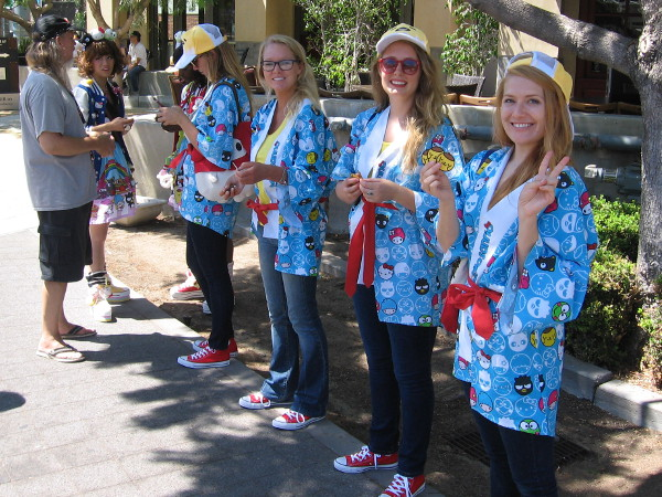 These smiling ladies were out on the MLK Promenade promoting Hello Kitty!