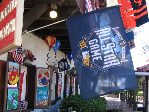 And lastly, a huge All-Star Game banner that I spotted today near the front door of Alamo Flags in Seaport Village!