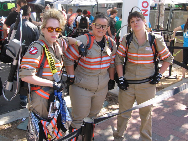 Ghostbusters cosplay at San Diego Comic-Con.