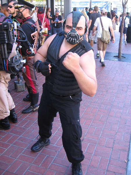 As I sauntered down a Gaslamp sidewalk, Bane refused to let me pass! Just some of the fun at 2016 Comic-Con.