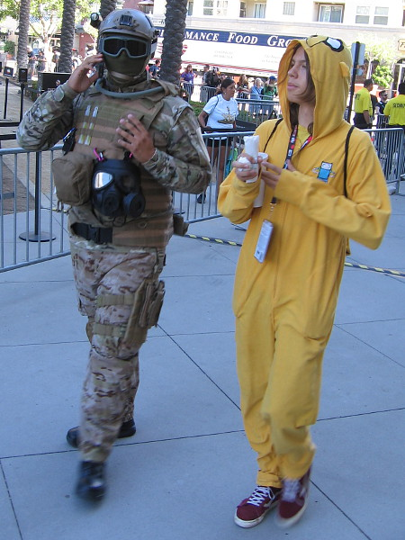 While I can't identify many of the characters that walk by during Comic-Con, I definitely enjoy the creativity.
