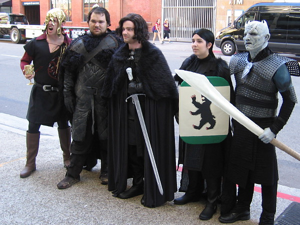 Cosplay outside 2016 San Diego Comic-Con, depicting characters from the blockbuster television show Game of Thrones.