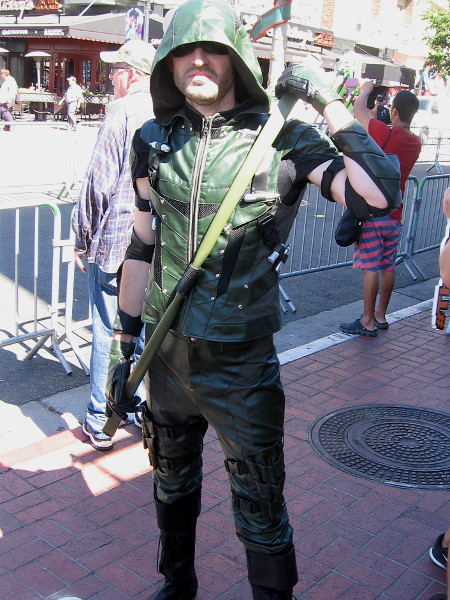 Cosplay of Green Arrow, DC hero and member of the Justice League.
