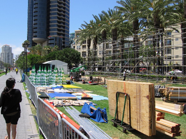 Lastly, I spotted a cool venue going up where the Assassin's Creed obstacle course was the last couple years. This is going to be South Park 20 Interactive Fan Experience!