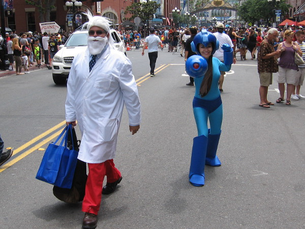 I learned the cosplay on the right is Megaman, but I didn't catch the identity of the fellow on the left. Help!