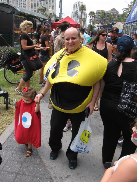 It's Pac-Man and a small Blinky!