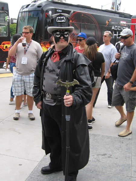 A super creative cosplay of a steampunk Batman.