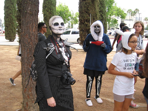 A fun, creative cosplay of characters from the Nightmare Before Christmas.