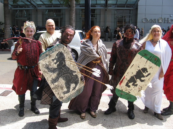 Some really great costumes--all characters from Game of Thrones.
