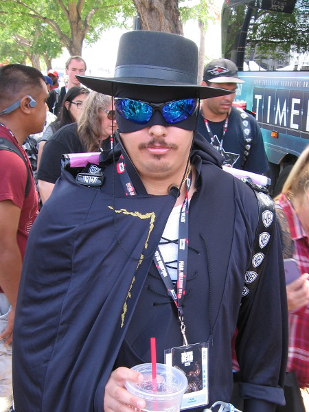 Cosplay of long-time movie hero Zorro!