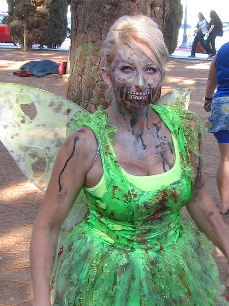 Goodness! Even a magical woodland fairy succumbed to the zombie plaque. I'm not sure why I'm hanging around.