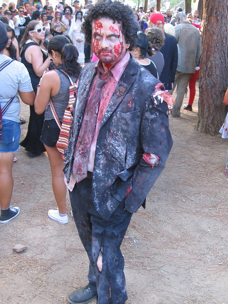 This must be the hippest, best dressed zombie I ever saw. A hostess might be tricked and let him into one of those more fancy restaurants in the Gaslamp.