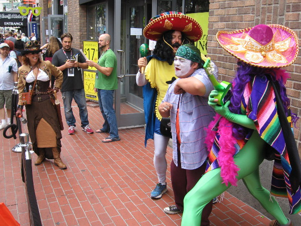 These musicians in wild Mexican outfits were simply having fun entertaining 2016 San Diego Comic-Con fans in the Gaslamp.