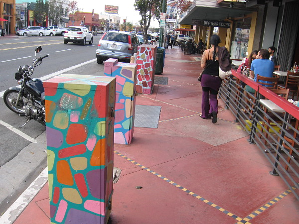 More creatively decorated utility boxes along University Avenue in North Park.