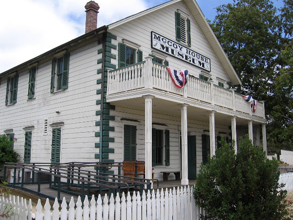 The McCoy House Museum, in Old Town San Diego State Historic Park, is a reconstruction of a home built in 1869 for Sheriff James McCoy.