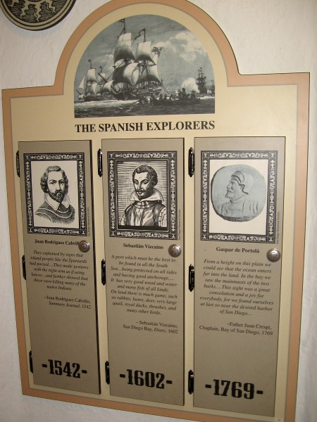 Quotes from the journeys of Juan Rodriguez Cabrillo, Sebastian Vizcaino and Gaspar de Portola.