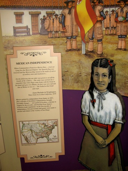 Mexico gained its independence from Spain in 1821 after a decade of bloodshed. Changes included a decline in support for the presidio and freedom from Spain's trade regulations.
