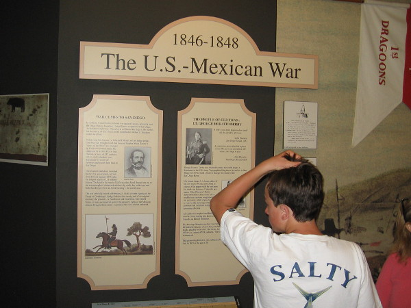 Exhibit in the McCoy House Museum details local history during the Mexican–American War from 1846 to 1848.