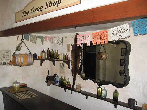 A recreated Old Town grog shop can be found inside the McCoy House Museum.