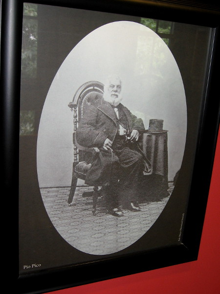 Pio Pico settled in San Diego in 1819 after the death of his father, a soldier assigned to the Presidio. Merchant and rancher, he later lived in Los Angeles and became the last governor of Mexican Alta California.